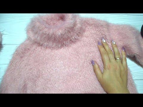 Как связать пушистый  детский свитер - МК 1 часть