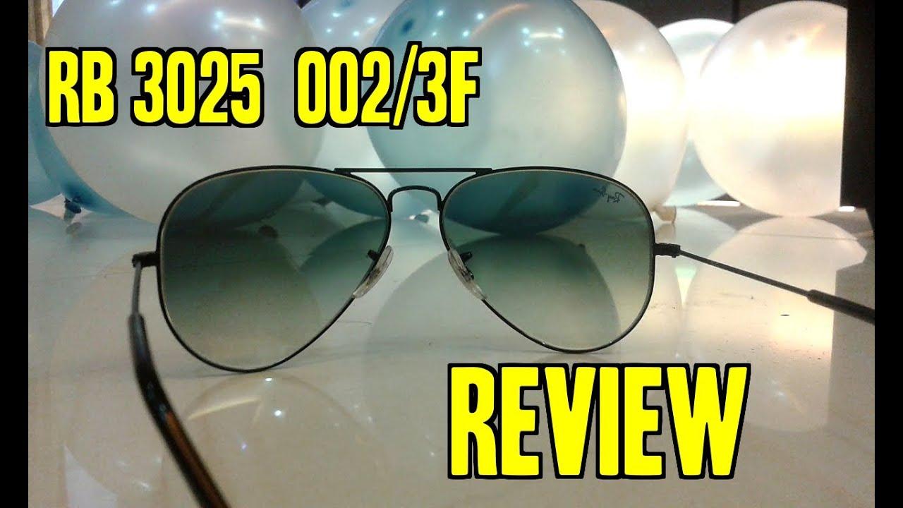 6deb2e286eb RayBan AVIATOR RB3025 002 3F 5814 sun glasses REVIEW