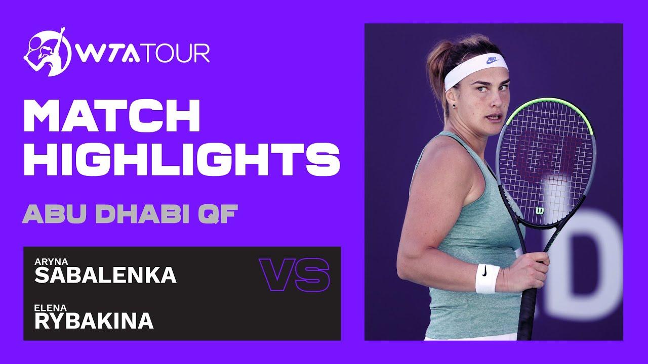 Aryna Sabalenka vs. Elena Rybakina | 2021 Abu Dhabi Quarterfinal | WTA Highlights