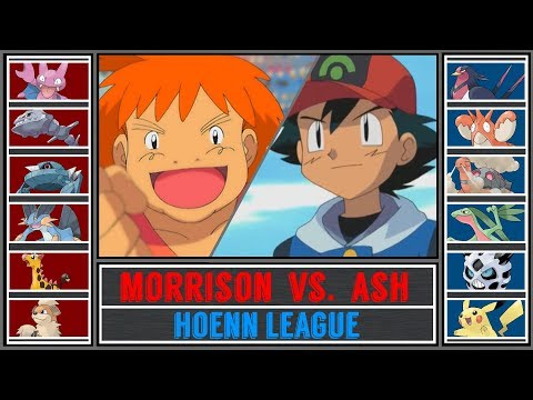 Ash vs. Morrison (Pokémon Sun/Moon) - Hoenn League/Round of Last 16