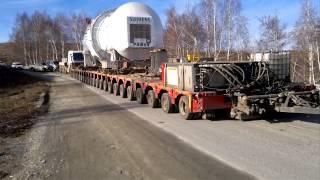 2013 11 12 Перевозка газовой турбины 310 тонн АСЭ
