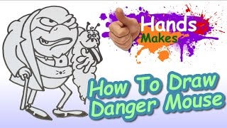 Easy How To Draw Baron Greenback From The CBBC Danger Mouse  Cartoon