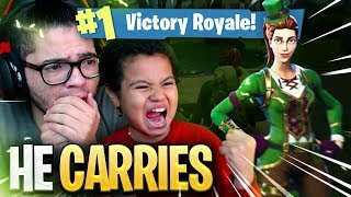 9 YEAR OLD KID LEADS THE TEAM TO VICTORY IN Fortnite: Battle Royale! *NEW* SKIN CRAZY! ARMY ROLEPLAY