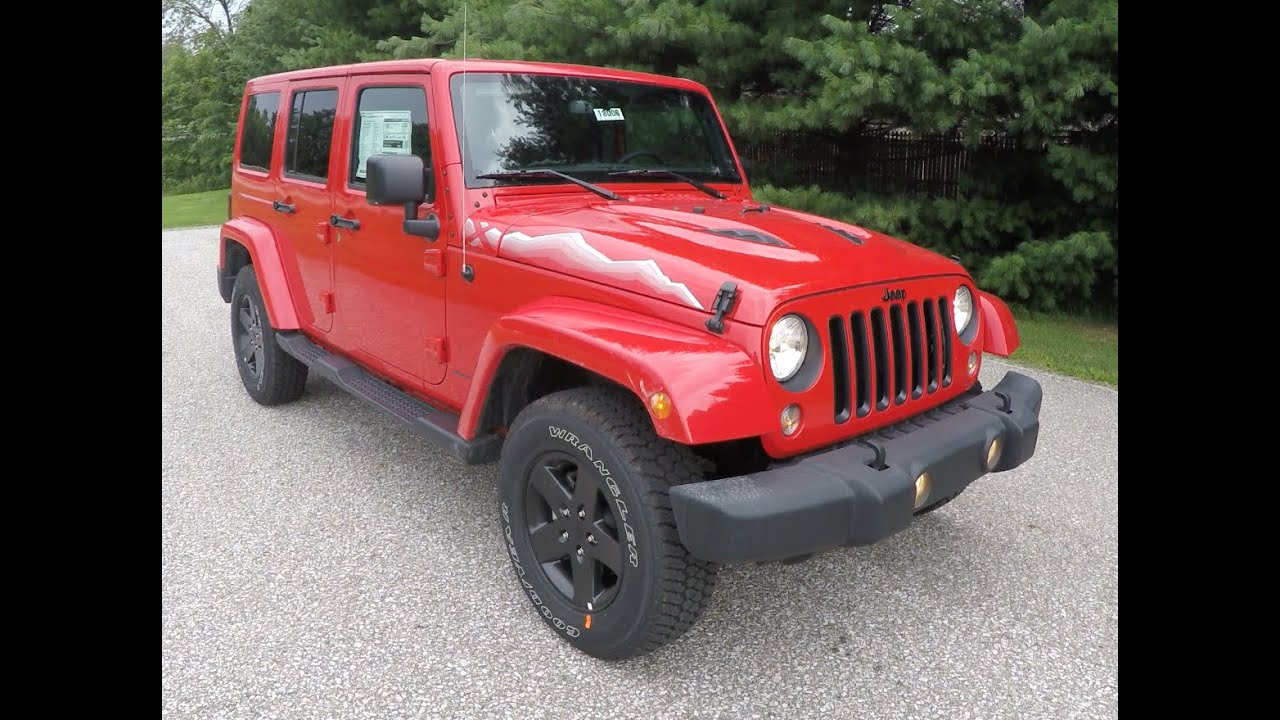 2015 jeep wrangler unlimited sahara x red | martinsville, in | new