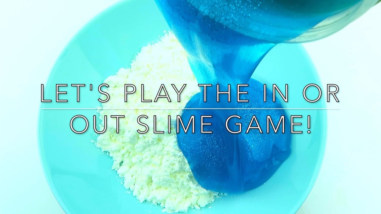 IN OR OUT SIME GAME!  Mixing Slime And Cornstarch!
