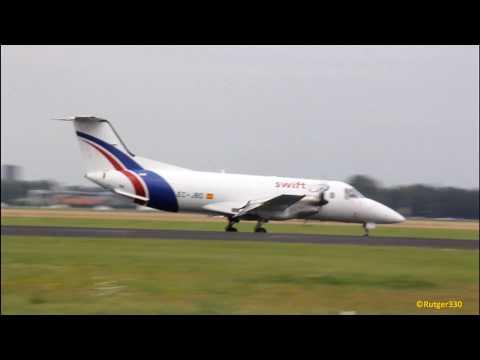 Swift Air Embraer 120 landing RW18R at schiphol