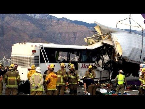 Several killed in California bus crash