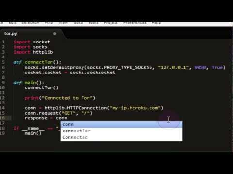 [Python] TOR With Python Tutorial #1 - Connecting to TOR