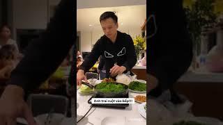 Ca sĩ Nguyễn Trần Trung Quân về nhà ăn tối cùng gia đình