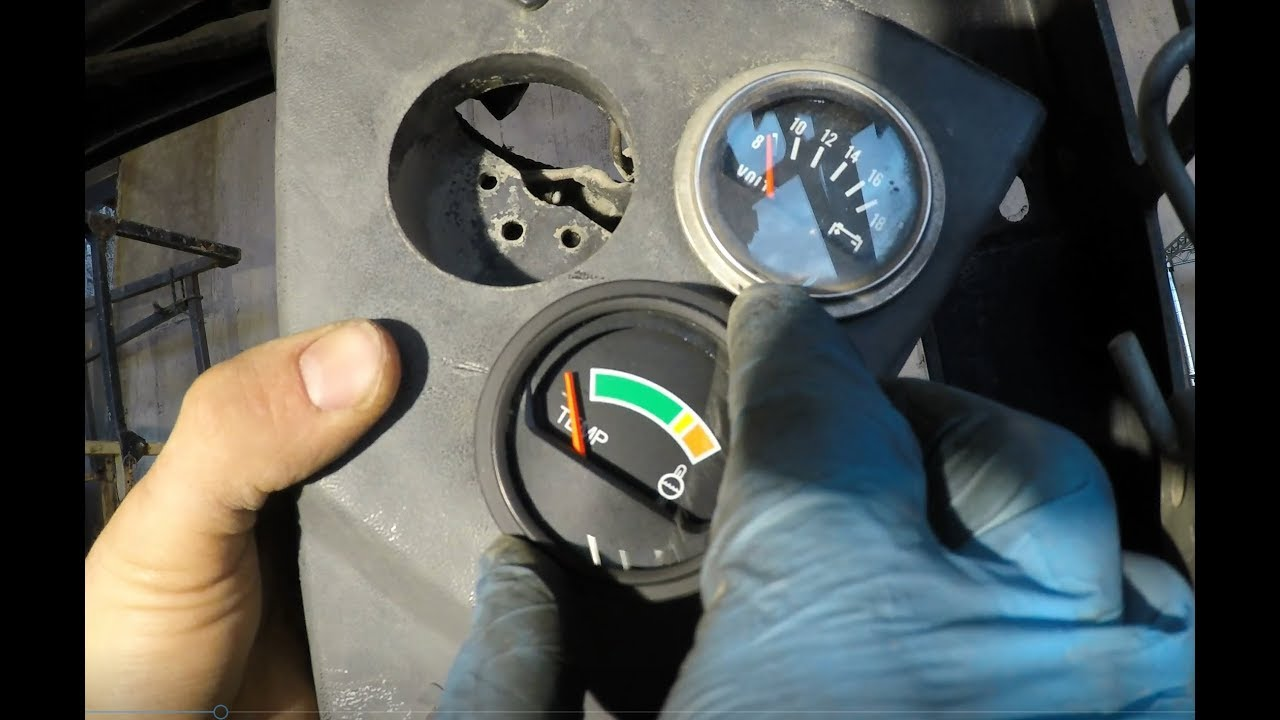 Fixing a bobcat temp gauge