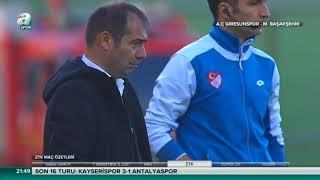Akın Çorap Giresunspor 3-1 Medipol Başakşehir | Maç Özeti HD | a spor