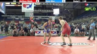 Junior 195 - Matthew Welch (Montana) vs. Steve Allen (Oklahoma)