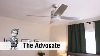 Huntervention with the Advocate Modern Ceiling Fan