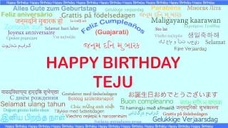 Teju   Languages Idiomas - Happy Birthday