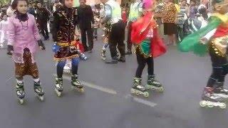 Pawai Budaya Anak-Anak Main Sepatu Roda