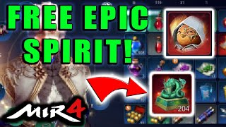 FREE EPIC SPIRIT! MIR4 - H๐w to Use the Epic Blue Dragon Statues! Dampyo Crafting Guide!