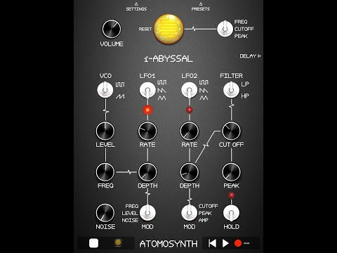 i-ABYSSAL Virtual Analog Photo-Synthesizer Demo & Tutorial for the iPad