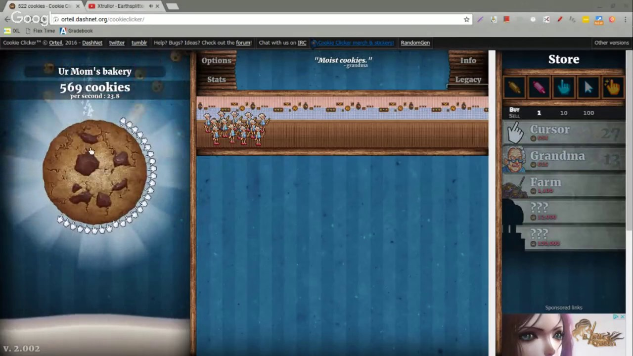 Cookie Clicker from The Start (Chromebook)