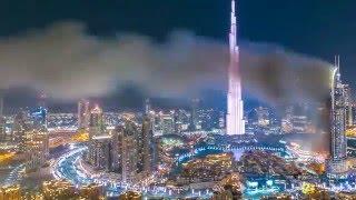 Dubai New Year Fireworks, Burj Khalifa timelapse 2016