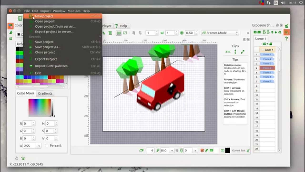 tupi 2d animation