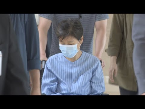 '재판 보이콧' 박근혜 전 대통령 병원 방문 / 연합뉴스TV (YonhapnewsTV)