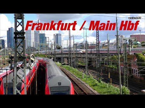 Frankfurt am Main Hbf - Hauptbahnhof, Central Station Frankfurt - Züge & Skyline - trains