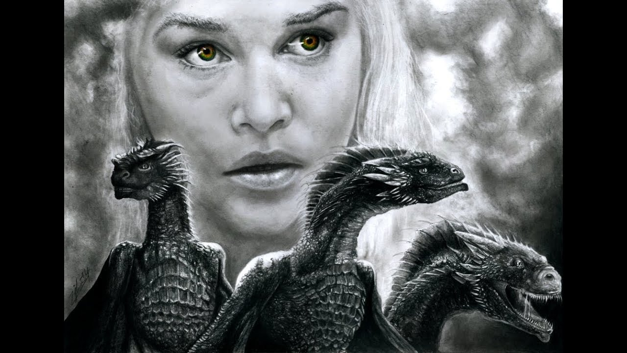 Game Of Thrones  Daenerys Targaryen Drawing