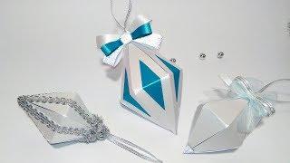 Новогодние игрушки для елки своими руками. Новогодний декор из бумаги бриллиант №1.