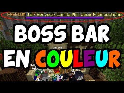 BOSS BAR EN COULEUR CUSTOM - Tuto 1.11 Minecraft