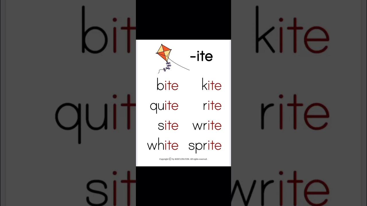 基礎發音練習/長音I -ite - YouTube