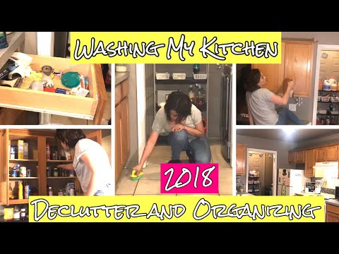 Extreme Deep Cleaning My Kitchen/ Cabinets ||Organizing || Cleaning Motivational