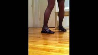 Repeat youtube video Stockings & Granny Sandals