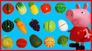 佩佩豬粉紅豬小妹教大家認水果學英語,兒童玩具教育影片