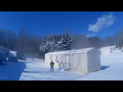 FLYING MY DRONE IN THE SNOW