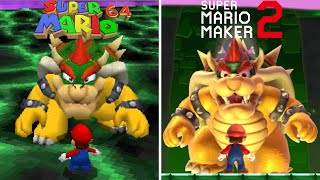 Super Mario 64 Final Level Recreated in Super Mario Maker 2