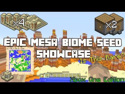 Minecraft: Mesa Biome Seed Showcase Console Edition(Rare Find