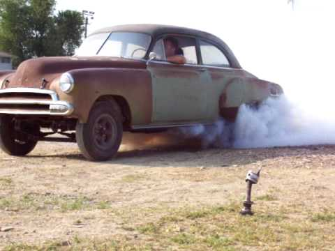 50 Chevy Gasser Burnout Loses Driveshaft Youtube