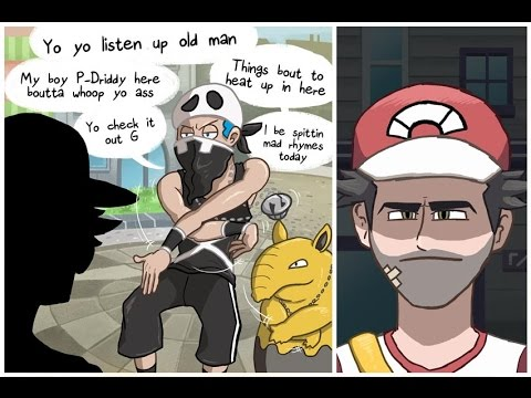 Red vs Team Skull - Pokemon Sun and Moon Comic Dub