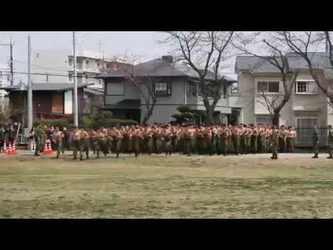 2017年習志野駐屯地桜祭り 空挺式体力調整