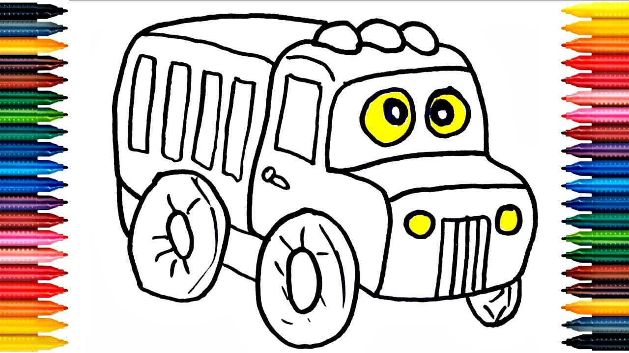 Car Coloring Book Fun Painting Car Coloring Page Colours for kids