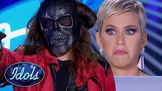 SCARIEST American Idol Audition EVER ! Vokillz Makes Katy Perry Hide! | Idols Global