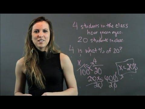 How to Detemine Percentages : High School Math Help