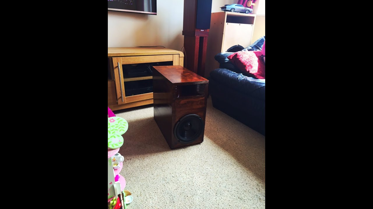 diy homemade home theater subwoofer enclosure birch ply - youtube