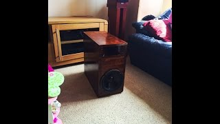 DIY homemade home theater subwoofer enclosure birch ply
