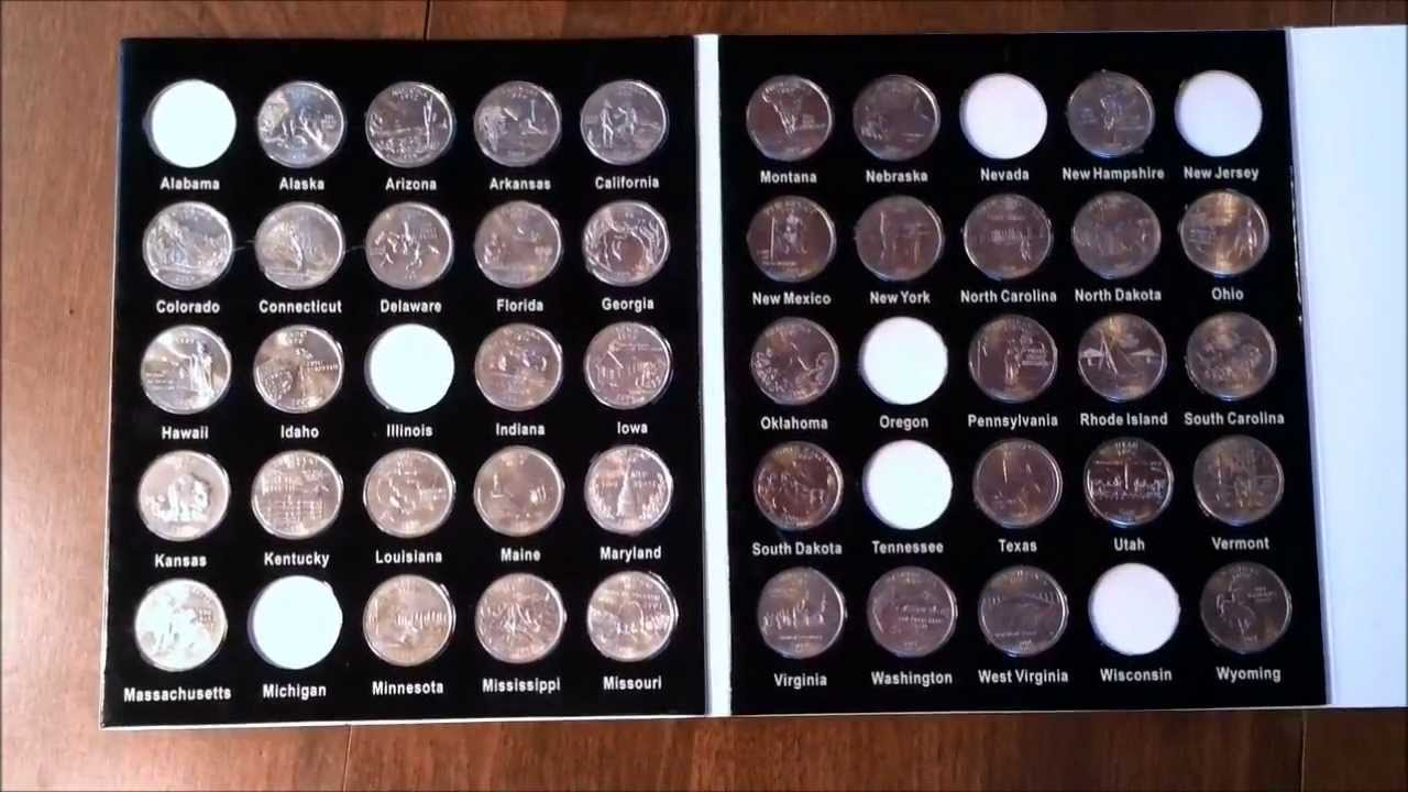 Fifty State Quarter Collection YouTube - Us national park quarters book