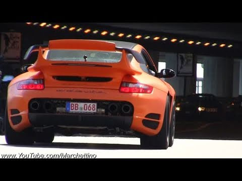 gemballa avalanche vs porsche gt2 rs youtube. Black Bedroom Furniture Sets. Home Design Ideas