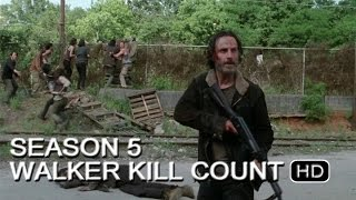 The Walking Dead | Season 5 Walker Kill Count Ep. 1-8 (HD)