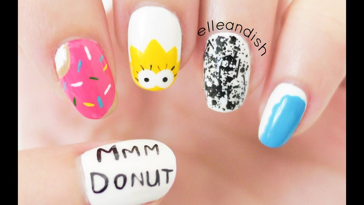 simpsons and donut mix