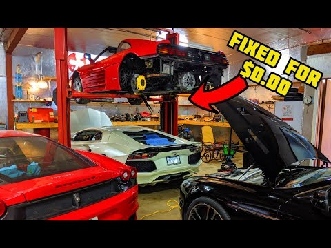 HOW we FIXED our TOTALLED FERRARI Engine for $0.00 | DIY MAJOR SERVICE Pt.16