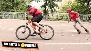 Ролики против велосипеда! Кто быстрее? Битва Колес(http://askroller.com/roller-ili-velosipedist/ Мы были шокированы этой битвой! Роликовые коньки против велосипеда. Никаких шуточ..., 2015-10-24T21:00:00.000Z)